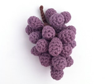 Grapes / Fruit Decor Decorations Centrepiece / Fruit Bowl / Eco-friendly Organic Fruit / Crochet Food