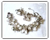 Juliana Bracelet Demi - Lush D & E Juliana Frosted Ice Art Glass Winged Set  Demi-549a-060609075
