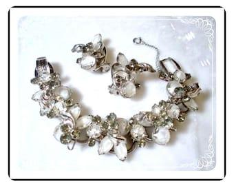 Juliana Bracelet Demi - Lush D & E - Frosted Ice Art Glass - Bracelet and Earrings Set  Demi-549a-060609075