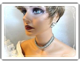 Smoke & Ice Set -  Glowing Gray Chic Rhinestone Demi-1245a-40510000