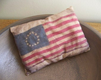 Primitive Flag Pillow Tuck American Patriotic Decor