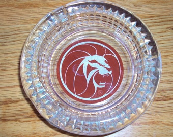 Vintage 1970's Las Vegas Casino Ashtray MGM Grand Roaring Lion