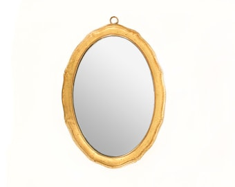 Vintage Italian Gold Gilt Oval Borghese Mirror // Italian Decor // Powder Room Mirror