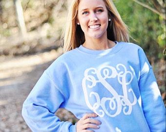 Monogrammed Sweatshirt - Ladies Crewneck