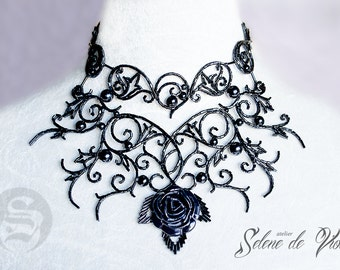 Queen of Roses hand-made necklace made to order