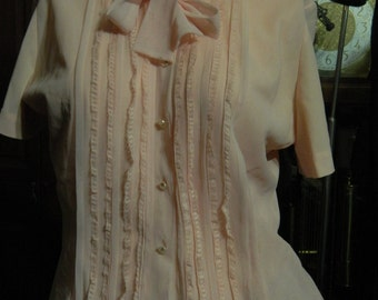 Vintage blouse pink 1950s Vintage blouse on sale