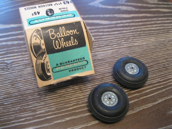 Vintage model airplane tires