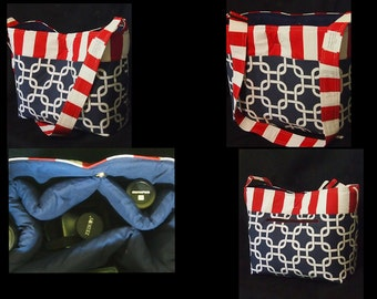 Americana Lg Custom DSLR camera bag, Water Resistant, Nikon Canon Sony +, Zipper pocket,  Laptop Pocket, Slr Camera bag, Camera Case