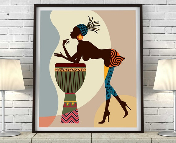 African American Art African Wall Art African Woman By