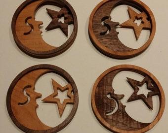 Moon & Star Ornament