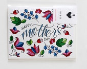 HAPPY MOTHER'S DAY Bright Floral Card