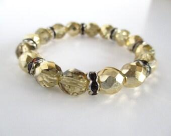 Clearance Sale, Crystal Bracelet. Beaded Bracelet, Stretch Bracelet, Gift for Women, Gift for Her, Crystal Jewellery, Stacking Bracelet