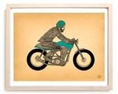 "Motorcycle Art Print ""Café Racer"""