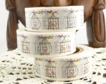 Birds and Birdcage Washi Tape - V1531