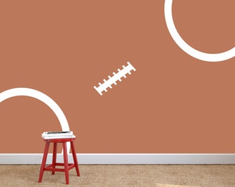 Football Stitching - Wall Decal Custom Vinyl Art Stickers for Homes, Bedroom, Sports, Remodelers, & Interior Designers