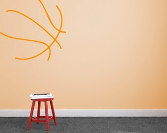 Basketball - Wall Decal Custom Vinyl Art Stickers for Homes, Bedroom, Kids Room, Sports, Remodelers, & Interior Designers