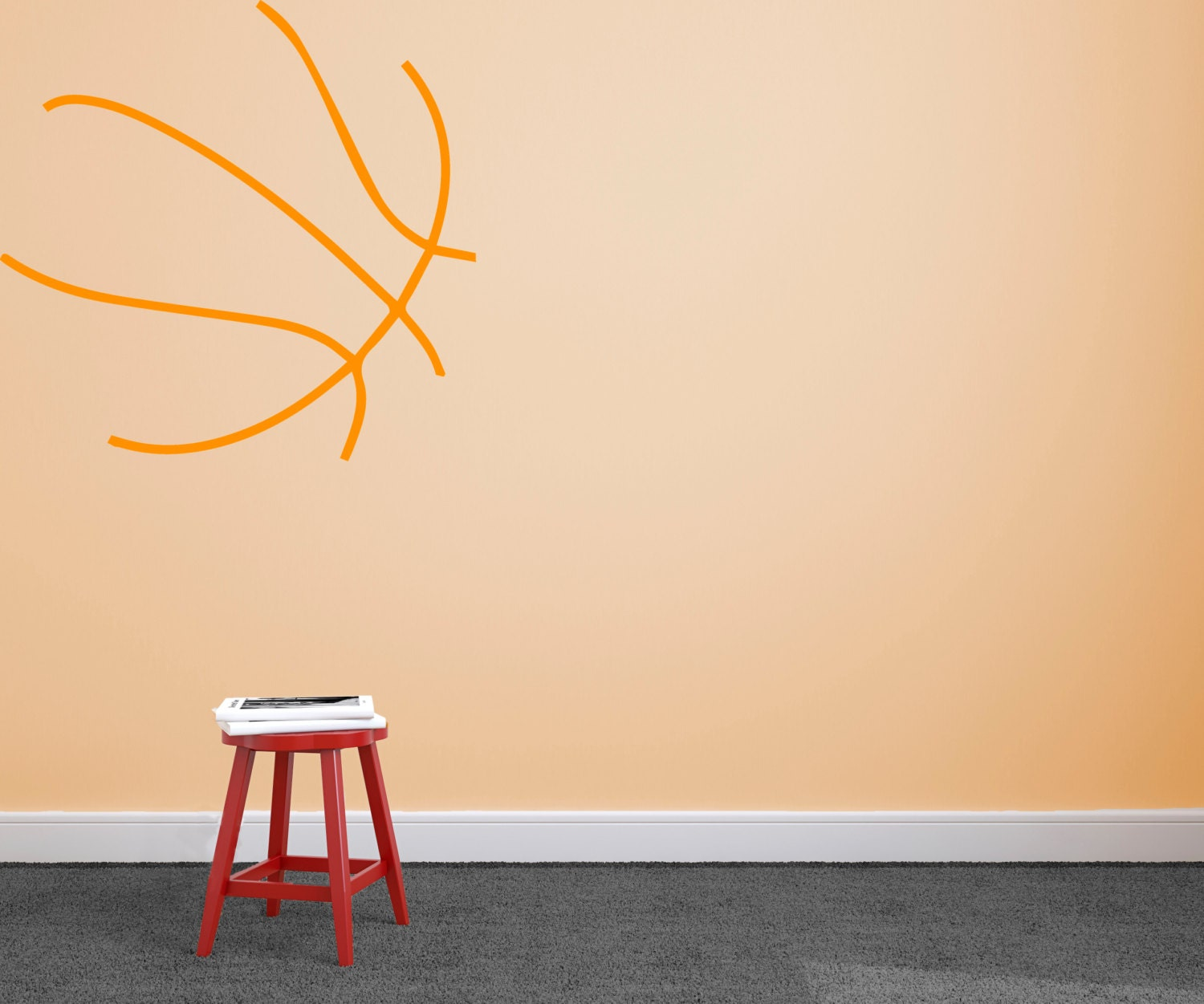 Basketball wall decal custom vinyl art stickers for homes for Basketball wall decals