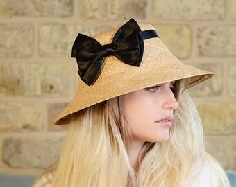 Summer Straw Hat , Cloche Straw Hat For Women , Sun Hat For Women, Natural Straw Hat , Classic Hat , Beach Hat , spring Straw Hat