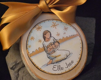 personalized angel baby loss ornament, personalized infant loss, miscarriage still born