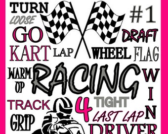 custom go cart racing poster, go cart poster, racing poster