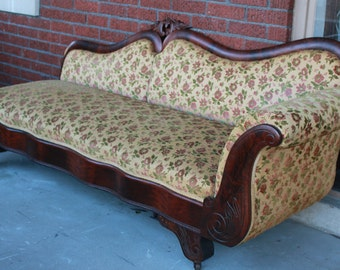 Antique fainting couch chaise lounge antique day bed for Chaise 1940
