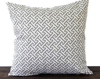 Gray and Ivory pillow cover One cushion cover modern minimalist decor