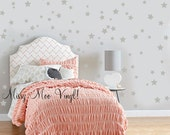Confetti Stars 150  set Pattern Set Nursery Vinyl Wall Decals- You pick the Color!