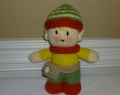 Tooth Fairy - Tooth Pillow - Pixie -  Hand Knit Soft Stuffed Toy - Doll