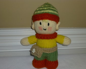 Tooth Fairy Toy - Tooth Pillow - Pixie -  Hand Knit Soft Stuffed Toy - Doll