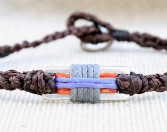 Handmade by ComaBella Sailing 3 color's Bracelet, Nautical Sailing Bracelet – wax cord Bracelet- gift