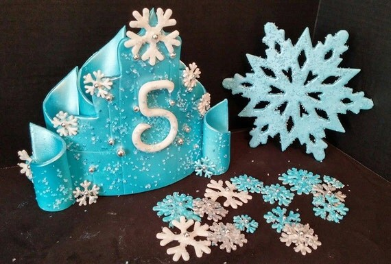 Frozen inspired edible cake decorations Large 7 1/2