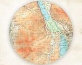 Antique Map, DerwentWater Map melamine plate