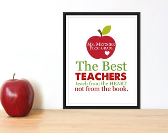 Teacher Appreciation Gift Print 8x10