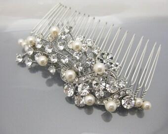 Wedding decorative combs,Wedding hair comb pearl,Wedding hair accessories,Wedding headpiece,Wedding comb,Bridal hair comb pearl,hair comb