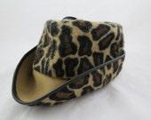 Mr John Junior Hat - Faux Leopard Fur Hat - Festival Wear Hat - Festiwear Hat - Free Shipping - 2MTT15