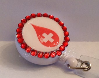 Super cute Phlebotomy-Retractable  Badge ID holder