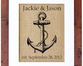 Anchor Monogram, Nautical Lover Monogram, Great for Sailors, Yachtsmen, Lover's of the Ocean Frame Included