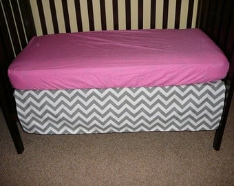 Zigzag Crib Skirt 4-sided