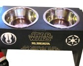 Star Wars Themed Custom Raised Pet Feeder