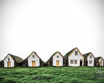 Charming Turf Houses: Iceland - Travel Photography [Nordic Viking Scandinavian Beach House / Natural Eclectic / Moss Green decor / Namaste]