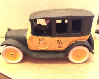 Replica Cast Iron Yellow Cab Co. Car