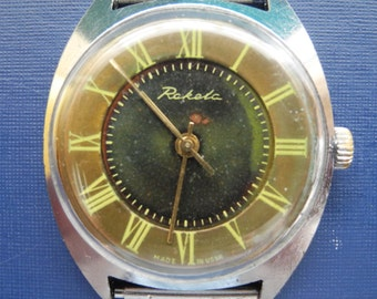 Mens wristwatch from USSR, Unique mens watches, Mens watches, Mens vintage watches,