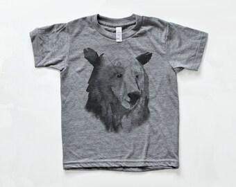 Kids Bear T Shirt | Toddler Bear Shirt | Childrens T Shirt | Bear Print Kids Clothing | Gift for Kids | Childrens Clothes