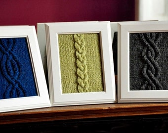Cable Panels Knitted Wall Art KNITTING PATTERN INSTRUCTIONS Framed Cable Knit Patterns