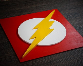 Superheroes Flash, Wall art, Kids bedroom wall art