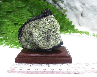 Natural Rough Peridot Olivine Volcanic Bomb Mineral Specimen In Matrix 317 grams
