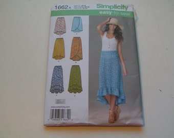 Simplicity Pattern 1662a easy to sew Miss Pull On Skirt