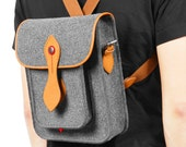 iPad Sleeve Tablet Case Laptop Sleeve for iPad Air with Genuine Leather Wool Felt Backpack Shoulder Bag Messenger Bag Camera Bag