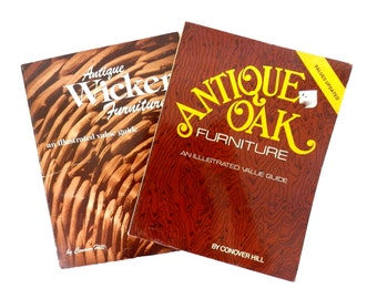 1978 Antique Oak and Wicker Furniture Books by Conover Hill