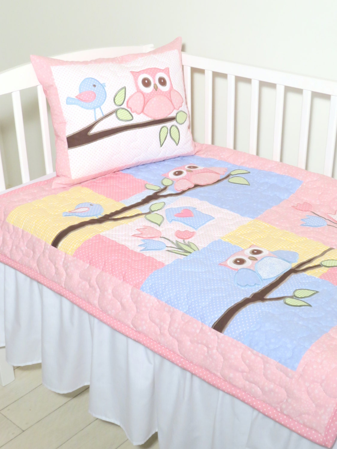 Baby Owl Bedroom Set: Baby Blanket Owl Quilt Blanket Baby Bedding Owl Nursery